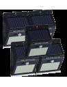 Set 5 Lampi Solare cu 30 LED, senzor de miscare si senzor de