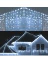 Instalatie 12 metri,ALB RECE, 300 LED-uri tip turturi